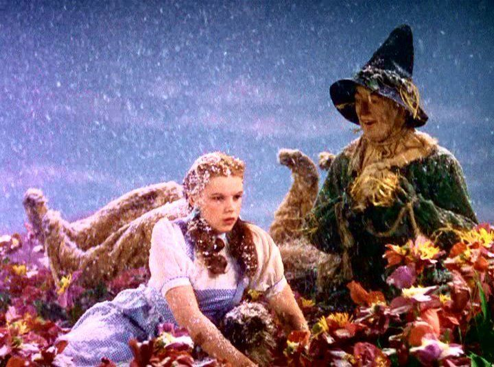 wizard of oz snow scene